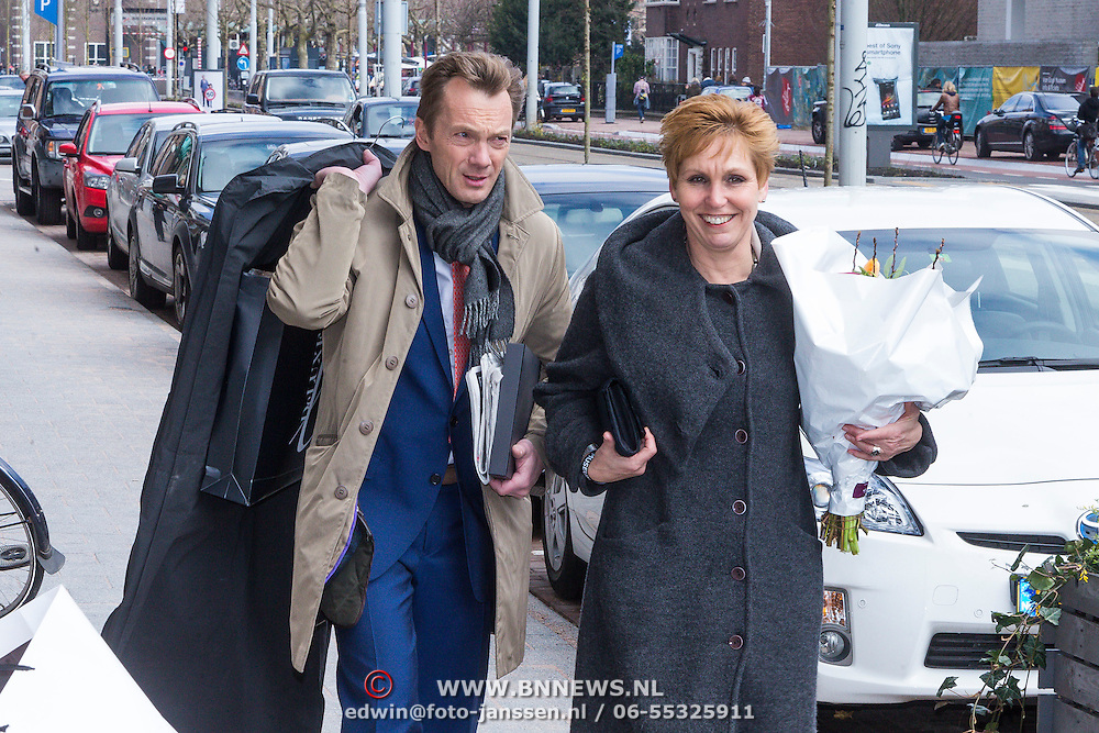 NLD/Amsterdam /20130413 - Heropening Rijksmuseum 2013 door Koningin Beatrix, directeur Wim Pijbes en partner