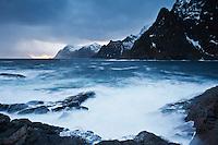 Dramatic coastal scenery, Å I Lofoten, Lofoten Islands, Norway