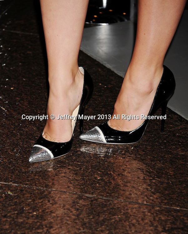 LOS ANGELES, CA- DECEMBER 12: Actress Olivia Wilde (shoe detail) at the 'Her' Los Angeles Premiere - Arrivals at Directors Guild Of America on December 12, 2013 in Los Angeles, California.