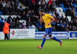 Bristol Rovers' Andy Monkhouse is sent off - Photo mandatory by-line: Neil Brookman/JMP - Mobile: 07966 386802 - 01/11/2014 - SPORT - Football - Telford - New Bucks Head Stadium - AFC Telford v Bristol Rovers - Vanarama Football Conference