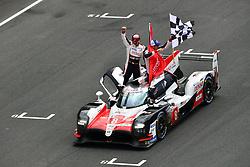 June 17, 2018 - Le Mans, France - 8 TOYOTA GAZOO RACING (JPN) TOYOTA TS050 HYBRID LMP1 SEBASTIEN BUEMI (CHE) KAZUKI NAKAJIMA (JPN) FERNANDO ALONSO (ESP) WINNER LMP1..#26 G DRIVE RACING (RUS) ORECA 07 GIBSON LMP2 ROMAN RUSINOV (RUS) ANDREA PIZZITOLA (FRA) JEAN ERIC VERGNE (FRA) WINNER LMP2.#36 SIGNATECH ALPINE MATMUT (FRA) ALPINE A470 GIBSON LMP2 NICOLAS LAPIERRE (FRA) ANDRE NEGRAO (BRA) PIERRE THIRIET (FRA) SECOND LMP2.#39 GRAFF SO24 (FRA) ORECA 07 GIBSON LMP2 VINCENT CAPILLAIRE (FRA) JONATHAN HIRSCHI (CHE) TRISTAN GOMMENDY (FRA) THIRD LMP2..#92 PORSCHE GT TEAM (DEU) PORSCHE 911 RSR GTE PRO MICHAEL CHRISTENSEN (DNK) KEVIN ESTRE (FRA) LAURENS VANTHOOR (BEL) WINNER GTE PRO.#91 PORSCHE GT TEAM (DEU) PORSCHE 911 RSR GTE PRO RICHARD LIETZ (AUT) GIANMARIA BRUNI (ITA) FREDERIC MAKOWIECKI (FRA) SECOND GTE PRO.#68 FORD CHIP GANASSI TEAM USA (USA) FORD GT GTE PRO JOEY HAND (USA) DIRK MUELLER (DEU) SEBASTIEN BOURDAIS (FRA) THIRD GTE PRO...#77 DEMPSEY PROTON RACING (DEU) PORSCHE 911 RSR GTE AM CHRISTIAN RIED (DEU) MATT CAMPBELL (AUS) JULIEN ANDLAUER (FRA) WINNER GTE AM.#54 SPIRIT OF RACE (CHE) FERRARI 488 GTE GTE AM THOMAS FLOHR (CHE) FRANCESCO CASTELLACCI (ITA) GIANCARLO FISICHELLA (ITA) SECOND GTE AM.#85 KEATING MOTORSPORTS (USA) FERRARI F488 GTE GTE AM BEN KEATING (USA) JEROEN BLEEKEMOLEN (NLD) LUCA STOLZ (DEU) THIRD GTE AM (Credit Image: © Panoramic via ZUMA Press)