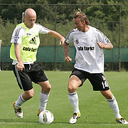 Turkish Soccer Club Besiktas's players Fabian ERNST (L) and Jose Maria Gutierrez HERNANDEZ (Guti) (R) during their at this season's training session in Holland 06 August 2011. Photo by TURKPIX