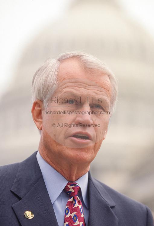 U.S. Congressmen Rep. Charles Stenholm a Congressional Blue Dog Democrat during a press conference July 17, 1998 in Washington, DC.