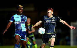 Rory Gaffney of Bristol Rovers takes on Anthony Stewart of Wycombe Wanderers - Mandatory by-line: Robbie Stephenson/JMP - 29/08/2017 - FOOTBALL - Adam's Park - High Wycombe, England - Wycombe Wanderers v Bristol Rovers - Checkatrade Trophy