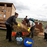 Climate Camp 2009 was on Black Heath, a windswept piece of grass near Greenwich. The police kept a low profile and left the campers alone for the week.