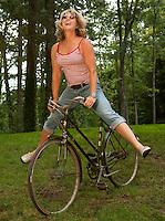 Riding a bike for fun August, 2011.
