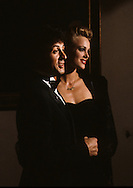 Brack's best, Sylvester Stallon and Brigitte Nielsen arrive at a White House State Dinner for Prince Charles and Lady Dianna ..Photograph by Dennis Brack  bb26