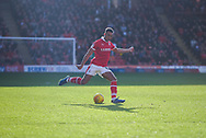 Jacob Brown of Barnsley (33) in action during the EFL Sky Bet League 1 match between Barnsley and Wycombe Wanderers at Oakwell, Barnsley, England on 16 February 2019.