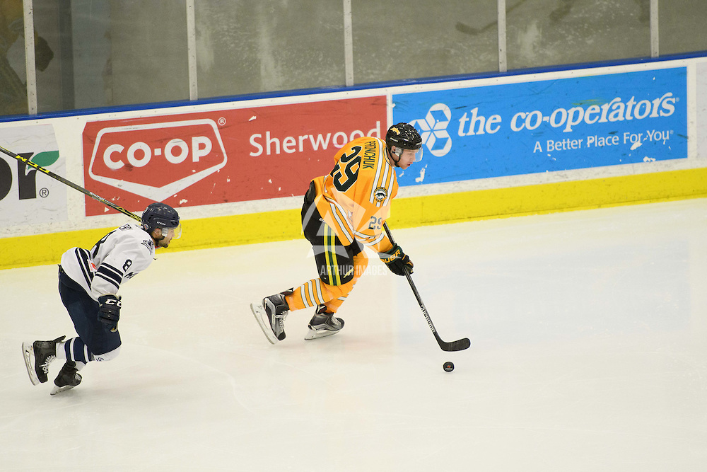 in action during the Men's Hockey Home Game on January 20 at Co-operators arena. Credit: Arthur Ward/Arthur Images
