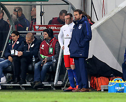 Wayne Rooney of England stands with Interim England Manager Gareth Southgate just before entering the pitch - Mandatory by-line: Robbie Stephenson/JMP - 11/10/2016 - FOOTBALL - RSC Stozice - Ljubljana, England - Slovenia v England - World Cup European Qualifier