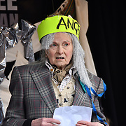 Vivienne Westwood Protest against Julian Assange Extradition Free speech is not a Crimes, on 22th Feb 2020  in London, UK