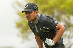 March 23, 2018 - Austin, TX, U.S. - AUSTIN, TX - MARCH 23: X. Schauffele watches his tee shot go into the woods during the WGC-Dell Technologies Match Play Tournament on March 22, 2018, at the Austin Country Club in Austin, TX.  (Photo by David Buono/Icon Sportswire) (Credit Image: © David Buono/Icon SMI via ZUMA Press)