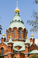 Finland, Helsinki. The Uspenski Cathedral.