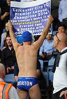 Football - 2015 / 2016 Premier League - Leicester City vs. Everton<br /> <br /> Leicester City fan in his speedo swim wear at the King Power Stadium.<br /> <br /> COLORSPORT/ANDREW COWIE