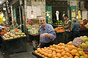 Shoppers at the Mahane Yahuda Market, Jerusalem, Israel