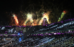 Fireworks during the Closing Ceremony for the PyeongChang 2018 Winter Paralympics in South Korea.