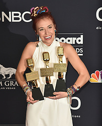 May 1, 2019 - Las Vegas, NV, USA - LAS VEGAS, NEVADA - MAY 01: Lauren Daigle poses with awards for Best Christian Artist, Top Christian Album for 'Look Up Child,'' and Top Christian Song for 'You Say' in the press room during the 2019 Billboard Music Awards at MGM Grand Garden Arena on May 01, 2019 in Las Vegas, Nevada. Photo: imageSPACE (Credit Image: © Imagespace via ZUMA Wire)