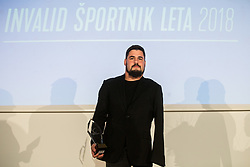 Darko Djuric celebrates during Slovenian Disabled Sports personality of the year 2018 event, on December 11, 2018 in Austria Trend Hotel, Ljubljana, Slovenia. Photo by Vid Ponikvar / Sportida