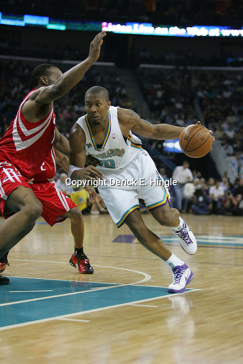 David West #30 of the New Orleans Hornets on February 22, 2008 at the New Orleans Arena in New Orleans, Louisiana.