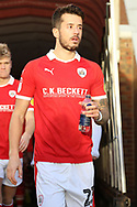 Barnsley defender Daniel Pinillos (23) enters the stadium from the tunnel during the EFL Sky Bet League 1 match between Barnsley and Charlton Athletic at Oakwell, Barnsley, England on 29 December 2018.