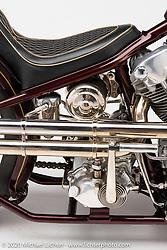 Paul Wideman's Jane Doe, a 1940 EL Harley-Davidson, built in 2013. Photographed by Michael Lichter in Sturgis, SD. SD. August 3, 2020. ©2020 Michael Lichter