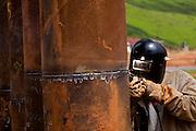 Jeceaba_MG, Brasil..Construcao de uma usina siderurgica em Jeceaba, Minas Gerais...The construction of the steel industry in Jeceaba, Minas Gerais...Foto: BRUNO MAGALHAES / NITRO