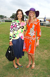 Left to right, RACHEL SLACK and FRANCES TRAHAR at the King George VI and The Queen Elizabeth Diamond Stakes sponsored by De Beers held at Newbury Racecourse, Berkshie on 23rd July 2005.<br /><br />NON EXCLUSIVE - WORLD RIGHTS