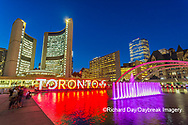 60912-00105 Nathan Phillips Square at night Toronto, ON Canada