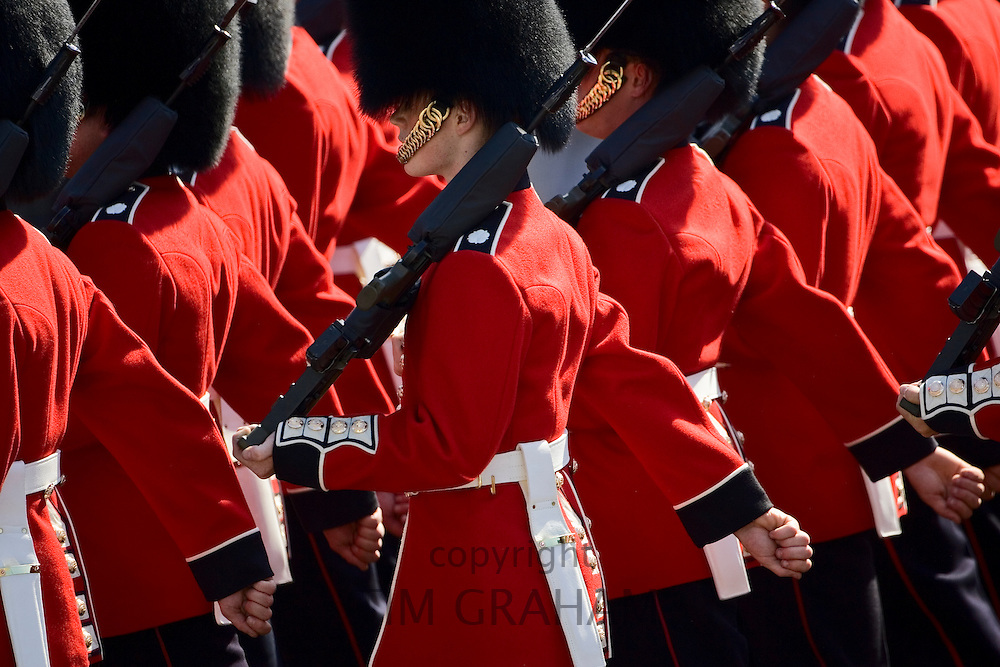 Foot Guards of the Household Division in Trooping The Colour parade, London, UK