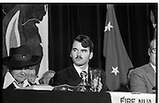 Sinn Fein Ard Fheis.      K63..1976..17.10.1976..10.17.1976..17th October 1976..The Sinn Fein (Kevin Street) Ard Fheis was held over the weekent of the 16th / 17th October at the Mansion House, Dawson Street, Dublin. Mr Ruairi O Bradaigh, President of Provisional Sinn Fein, gave the keynote speech..Unfortunately we do not have a caption sheet for the officials at the top table, if you know who they are why not contact us and we will add the information..irishphotoarchive@gmail.com