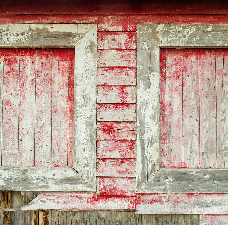 Fish shacks building details, Gros Morne National Park, Newfoundland and Labrador NL, Canada