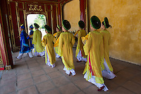 Hue Citadel Procession - artists from the Hue Traditional Royal Theatre of Arts provide an extra touch of color to the Hue Citadel by parading through the grounds.