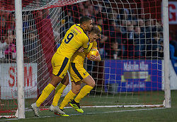 Falkirk's Joe McKee celebrates after scoring their second goal. Stenhousemuir 4 v 2 Falkirk, 3rd Round of the William Hill Scottish Cup played 24/11/2018 at Ochilview Park, Larbert.