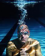 Portrait of champion swimmer Ed McCullough.