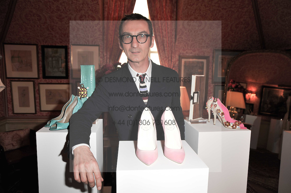 BRUNO FRISONI at a lunch hosted by Roger Viver in honour of Bruno Frisoni their creative director, held at Harry's Bar, 26 South Audley Street, London on 31st March 2011.