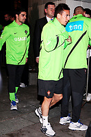 20120227: WARSZAWA, POLAND - Portugal players go out of Sheraton Hotel and drive for an evening workout in Warszawa, Poland.<br /> In photo: Joao Pereira.<br /> PHOTO: CITYFILES