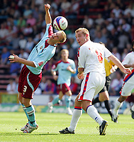 Crystal Palace FC vs Burnley FC Championship 23/08/08<br /> Photo Nicky Hayes/Fotosports International<br /> Christian Kalvenes of Burnley and James Scowcroft of Palace.