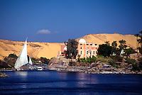 Feluccas on the Nile River, Aswan, Egypt