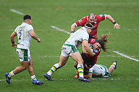 Rugby Union - 2020 / 2021 Gallagher Premiership - Gloucester vs Northampton Saints - Kingsholm<br /> <br /> Gloucester's Jordy Reid is tackled by Northampton Saints' Paul Hill.<br /> <br /> COLORSPORT/ASHLEY WESTERN