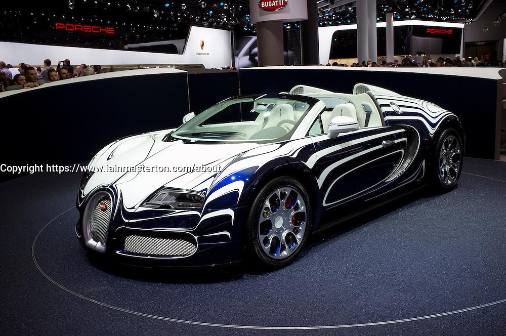 New Bugatti Veyron at Frankfurt Motor Show or IAA 2011 in Germany