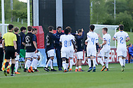 Italy celebrate scoring during the UEFA European Under 17 Championship 2018 match between Israel and Italy at St George's Park National Football Centre, Burton-Upon-Trent, United Kingdom on 10 May 2018. Picture by Mick Haynes.