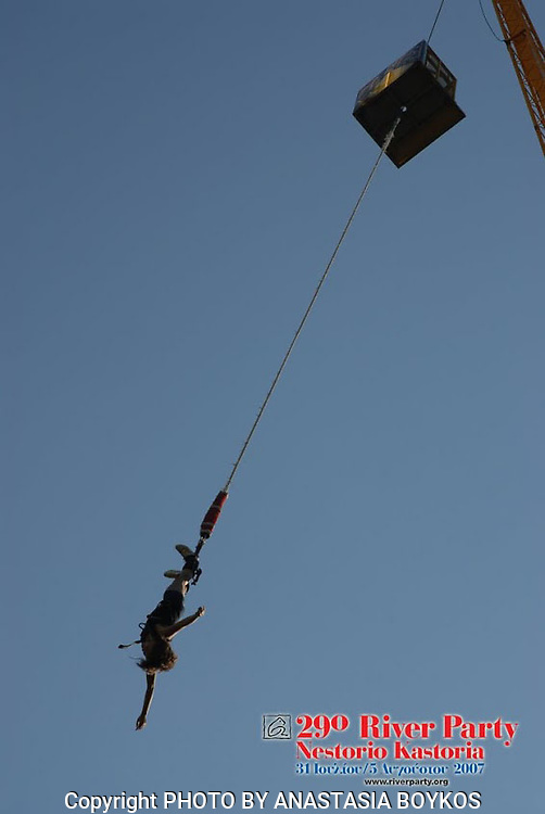 Bungee Jumping at the River Party