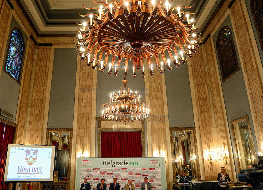 07-12-2013 ATHLETICS: SPAR EC CROSS COUNTRY: BELGRADE<br /> Press conference regarding the SPAR European Cross Country Championships held in the city of Belgrade Ceremonial Assembly Hall / Hansjorg Wirz, President of the European Athletics Federation<br /> ©2013-WWW.FOTOHOOGENDOORN.NL