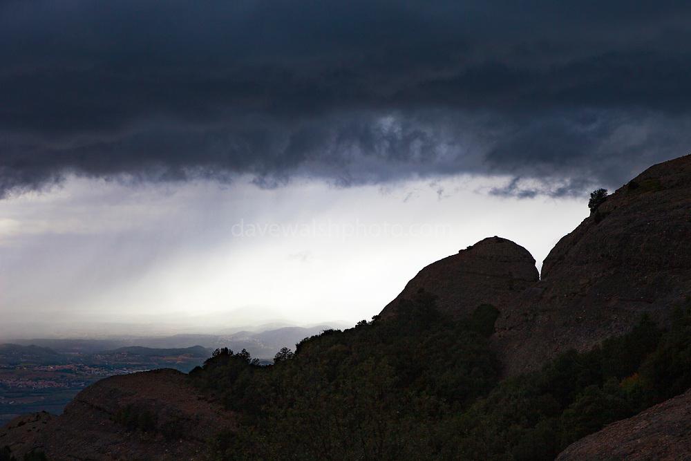 Storm clouds over Montserrat, mountain, Catalonia