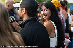 Cheryllynn Cyr on a hayride during the Tennessee Motorcycles and Music Revival at Loretta Lynn's Ranch. Hurricane Mills, TN, USA. Sunday, May 23, 2021. Photography ©2021 Michael Lichter.