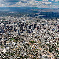 Downtown Denver Stock Aerial Photography, Stock Aerial Photography of Denver Colorado