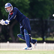 Sarah Taylor batting during the match between England and New Zealand in the Super 6 stage of the ICC Women's World Cup Cricket tournament at Bankstown Oval, Sydney, Australia on March 14 2009, England won the match by 31 runs. Photo Tim Clayton