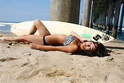 Attractive Female Asain Model on the Beach