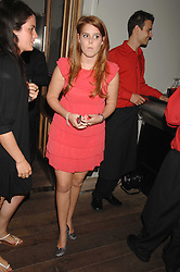 PRINCESS BEATRICE at a party to celebrate the launch of the Boodles Wonderland jewellery collection held at the Haymarket Hotel, 1 Suffolk Place, London on 9th June 2008.<br /><br />NON EXCLUSIVE - WORLD RIGHTS