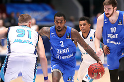 October 3, 2018 - St. Petersburg, Russia - October 3, 2018 St. Petersburg. Russia. Eurocup. BK Zenit-BK Turk Telecom. Player Brandon Jennings  (Credit Image: © Russian Look via ZUMA Wire)
